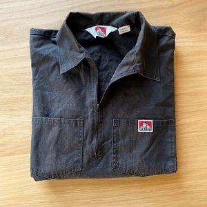 BEN DAVIS Workwear Zip Work Shirt Ripstop Popover